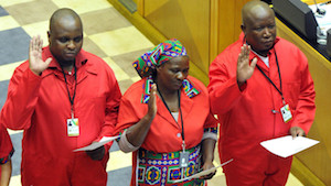 Malema in parliament